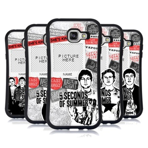 Custom Customized Personalized 5 Seconds Of Summer Song Titles Hybrid Case for Samsung Galaxy A7 (2016)