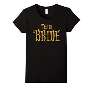 Women's Halloween Party Gold Team Bride Shirts Small Black
