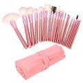 Vanz? Professional 22 PCS Make up Cosmetic Brushes Set Kit Eyeshadow Eyebrow Eyelash Eyeliner Lip Powder Blush Face Brush with Pink Bag Case Pouch,Hot Pink by Flylinktech?