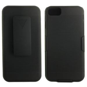 S-Smile Slim Hard Portable Holster Case Belt Clip Case for Iphone 7 + 1 Pcs S-smile Stylus (Stripe - Black)
