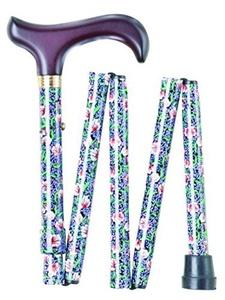 Morris Pattern Handbag Folding Walking Stick by Charles Buyers