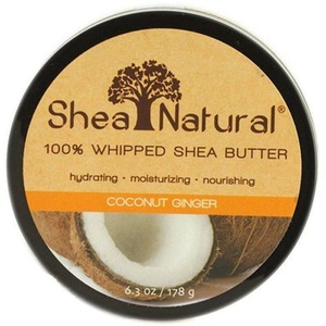 Shea Natural Shea Butter Whip Coconut Ginger, Coconut Ginger 6.3 oz by Shea Natural