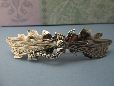 Dragonfly Hair Clips Barrettes Dragonfly Bridal Wedding Barrette for Thick Hair Nature Theme Angelina Verbuni Designer