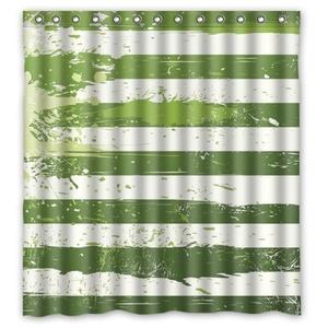 Creative New Design 100% Waterproof Mildew Polyester Fabric Shower Curtains - Custom White and Green Graffiti Shower Curtain 66