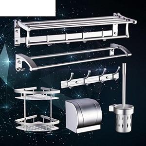 space aluminium towel rail/Bathroom folding racks/Bathroom hardware accessories set-D