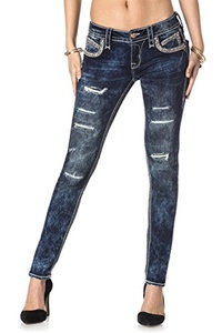 ROCK REVIVAL WOMEN'S JOHANNA S205 SKINNY CUT JEANS (28)