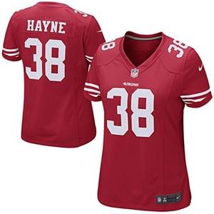 Jarryd Hayne 38 Player Women's Short Sleeve T-Shirt 2016-17 Season Plus Sizes Jerseys Red Size XXL