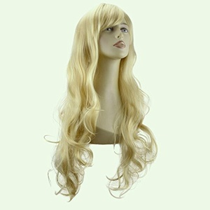 Elegant Hair - 22 Ladies Beautiful Full WIG Hair Piece LOOSE WAVES Light Blonde #613 by Elegant Hair