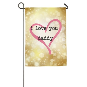 Particular Colored I Love You Daddy Beautiful Durable House Flag.