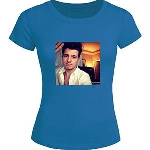 Charlie Puth For 2016 Womens Printed Short Sleeve tops t shirts