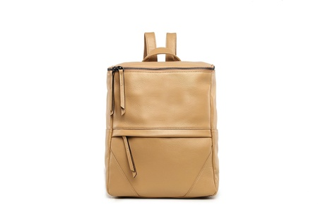 Boxie Leather Backpack - Nude