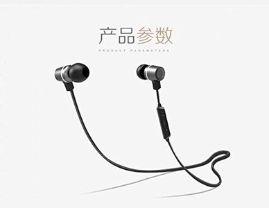 Bluetooth Headphones, Rosky Wireless 4.1 Bluetooth Sport Stereo In-Ear Noise Cancelling Sweatproof Headset with Mic for Apple iPhone 6 5 4 Samsung Galaxy S7 S6 and Other Smartphone, Black