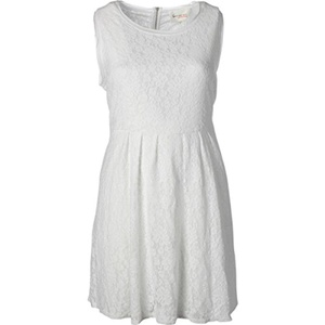 Two by Vince Camuto Womens Lace Contrast Trim Cocktail Dress White 2X