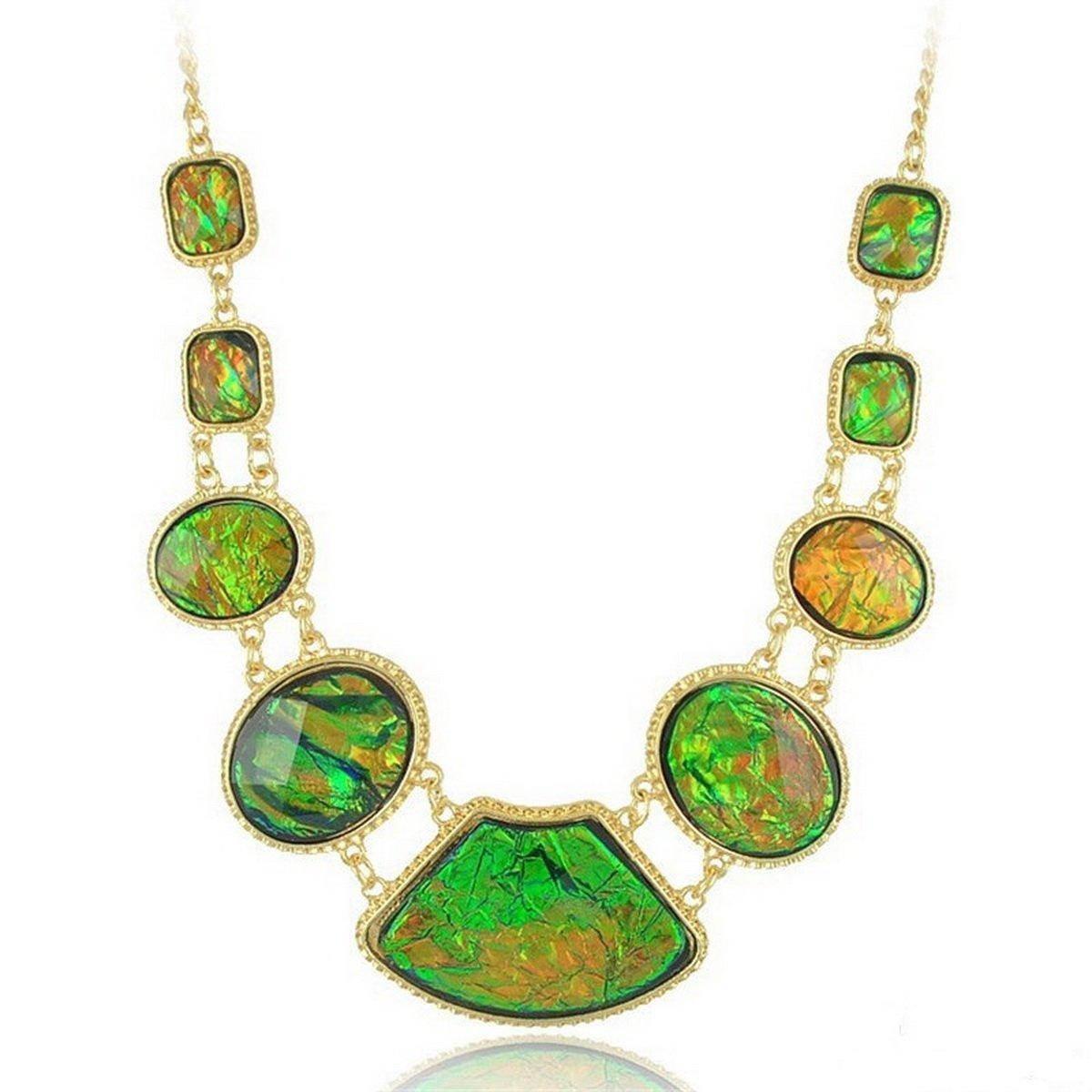ARICO African Resin Jewelry Set Gold Plated Statement Neckklace and Earrings Parure Bijoux Femme Sapphire Jewelry Square Jewelry Sets NE881