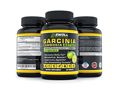 85% HCA - Garcinia Cambogia Extract - All Natural 100% Pure Appetite Suppresant, Carb Blocker, Diuretic and Weight Loss Supplement Formula Pills to Slim Down and Fulltime Energy by Swoll Sports & Nutrition