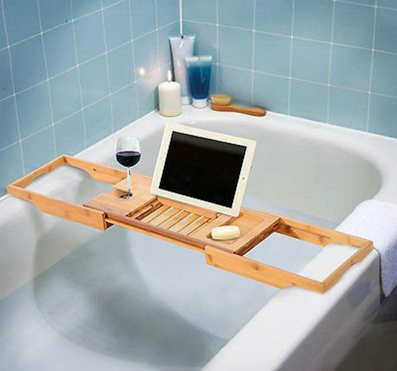 Online Store: Bathtub Rack Bamboo Shelf Shower Tub Book Reading Tray ...