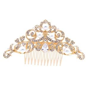 PROHAIR Zinc Alloy Pearls Hair Combs Crystals Rhnestone Hairpins Bridal Wedding Hair Accessories Women Headpiece