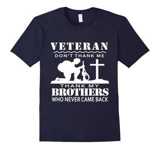 Men's Veteran 2016 T-Shirt: Thank My Friends Who Never Came Back Medium Navy