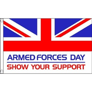 Armed Forces Day Flag 5Ft X 3Ft British Military Remembrance Day Ww1 Banner New by Armed Forces Day