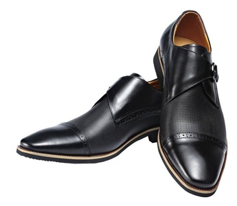Men Genuine Leather Shoe Slip-on Leather Lining Oxford Dress Shoes (6)