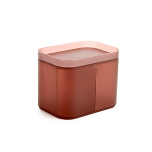 ONEONEY Colorful Storage Containers Box Cosmetic Makeup Brush Holder Cosmetic Organizer Cup-(Dark Brown,M)