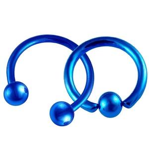Septum 16g 10mm Circular Horseshoe Barbell Cartilage Earring Captive Bead Ring Balls Surgical Steel Lip Piercing
