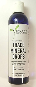 VHI Trace Mineral Drops - Trace Mineral Research from the Great Salt Lake 8 Ounce Bottle (96 Servings) of Liquid Drops by Vibrant Health