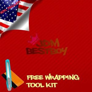Free Tool Kit EZAUTOWRAP 3D Red Carbon Fiber Textured Car Vinyl Wrap Sticker Decal Film Sheet - 60