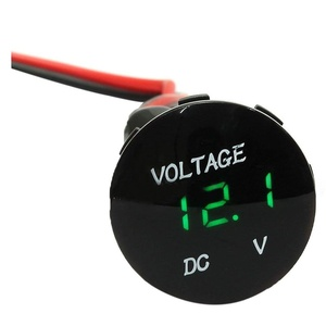 Waterproof Digital voltmeter - TOOGOO(R)Waterproof LED Digital voltmeter Voltage Digital Car Car Panel Meter 12-24V black