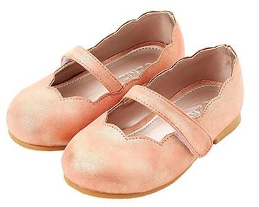Ozkiz Girls Mary Jane Shoes Toddler Little Girls Dress Ballet Velcro Walker Ballerina Flat pink 8M