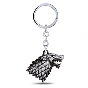 Game of Thrones House Stark Silver Color Keychain by Jewelry-Keychain