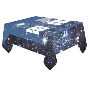 Unique Debora Custom Tablecloth Cover Cotton Linen Cloth Tardis For Dining Room, Tea Table, Picnics, Parties DT-18