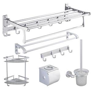 The bathroom Towel rack/Space aluminum Towel rack/Bathroom hardware accessories set of six-A
