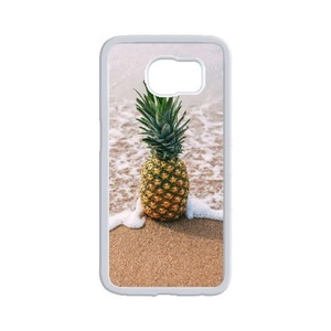 Samsung Galaxy s6 Case, LEDGOD Fashionable Gift DIY Pineapple White Cover Phone Case for Samsung Galaxy s6 Shell Phone.