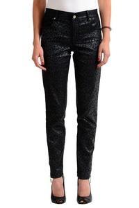Versace Jeans Black Patterned Women's Slim Fit Jeans US 6 IT 42;