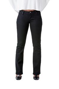 Poetic Justice Curvy Women's Black Stretch Denim Basic Slim Skinny Bootcut Jeans