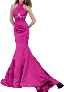 Winnie Bride 2016 Designer Charity Evening Party Dress Long Mermaid Prom Gown-12-Fuchsia