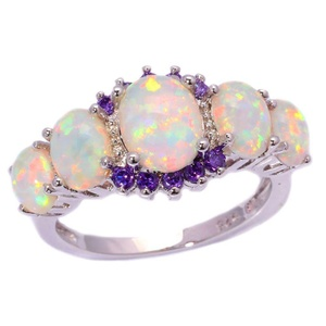FT-Ring White Fire Opal Amethyst Jewelry Wedding Ring For Women Engagement Wedding Bridal Rings (10)