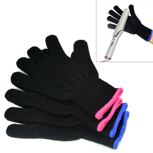 Jmkcoz 2 Pair Heat Resistant Gloves Protective Gloves for Curling, Hair Straighteners Curling Wand and Flat Iron