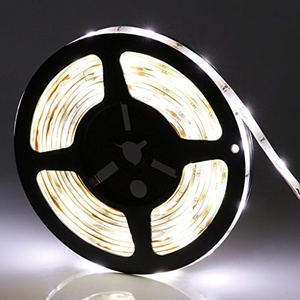 LEDMO Waterproof Flexible LED Light Strip,DC12V LED Strip Light,Super Bright 300Units SMD 5050 LEDs,Cool White 6000K,16.4Ft/5M