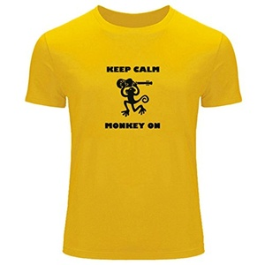Keep Calm Monkey on Printed For Boys Girls T-shirt Tee Outlet