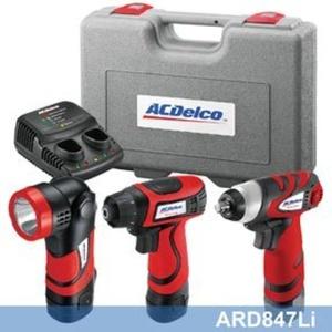 ACDelco ARD847Li Li-ion 8-Volt Drill+Impact+Flashlight 3-in-1 Combo Kit by ACDelco