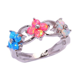 FT-Ring Blue & Pink & White Fire Opal Jewelry Wedding Ring For Women Engagement Wedding Bridal Rings (10)
