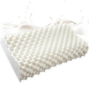 Ukshellan Natural Latex Memory Foam Contour Bed Pillow Bamboo Cover, Standard