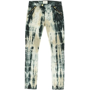 McGuire Denim Womens Margaux Tassel Tie Dye Flat Front Skinny Pants Blue 25