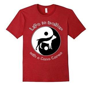 Men's Life Is Better With Cane Corso T-Shirt XL Cranberry