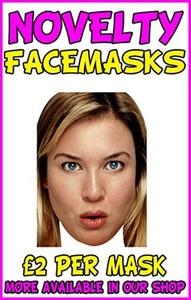 Bridget Jones Renee Zellwegger Copy Novelty Celebrity Party Mask by Novelty Print Face Masks