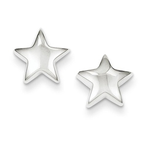 .925 Sterling Silver 12 MM Star Post Stud Earrings