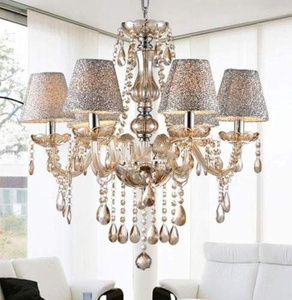 Modern Crystal Ceiling Lighting Chandelier 6 Light Lamp Pendant Fixture Clear