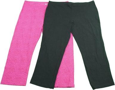 June And Daisy 2 Pair Ladies Cotton Leggings Pack Princess Spots & Black (Large 14/16)